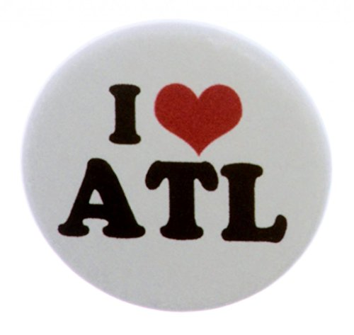 Atlanta Pin (A&T Designs Unisex - I Love ATL 1.25