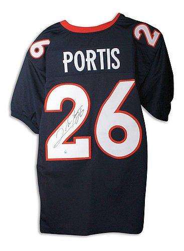 Clinton Portis Denver Broncos Autographed Navy Blue Jersey - Certified Authentic Signature