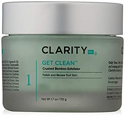 ClarityRx Get Clean Crushed Bamboo Exfoliator, 1.7 oz (packaging may vary) by ClarityRx