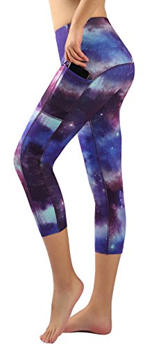 Munvot Women's Yoga Capri Leggings Exercise Workout Pants Gym Tights M