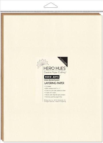 Hero Arts Hues Mixed Layering Paper, Earth