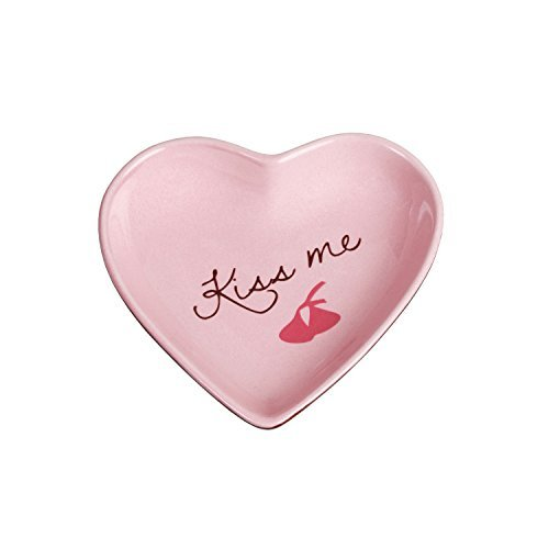 Fitz and Floyd - Kiss Me Heart Tid Bit Dish Pink 4 In