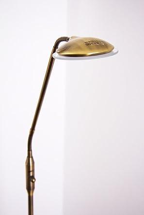 Lámpara de pie LED de lectura Tapia de latón antiguo