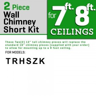 "Z Line SK-KZ 2-12"" Short Chimney Pieces for 7' to 8' Ceilings, Stainless"