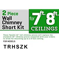 Z Line SK-KZ 2-12 Short Chimney Pieces for 7 to 8 Ceilings, Stainless