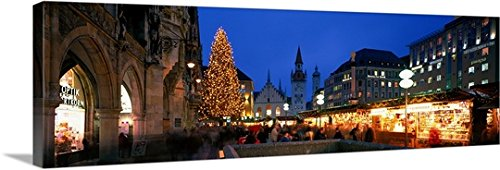 Canvas On Demand Premium Thick-Wrap Canvas Wall Art Print entitled Munich Germany - Downtown Shopping La Center