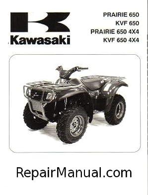 2002 2003 kawasaki prairie 650 kvf 650 prairie 650 4x4 atv service rh amazon com 2002 kawasaki prairie 400 service manual 2002 kawasaki prairie 650 service manual pdf