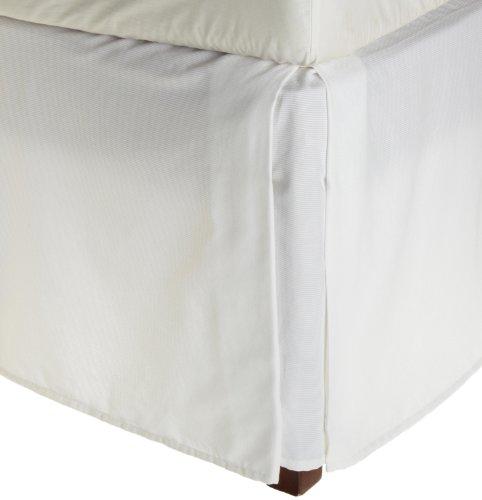 Vera Lotus Accent (Vera Wang Rib Stripe California King Bedskirt, White)