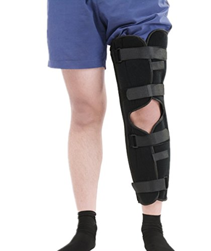 YHBracer Adjustable and Breathable Knee Support Brace Patella Fracture Brace, One Piece (M) -