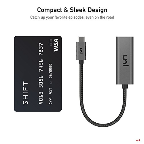 USB C to HDMI Adapter (4K@60Hz), uni USB Type-C to HDMI Adapter [Thunderbolt 3 Compatible] for MacBook Pro 2019/2018/2017, MacBook Air/iPad Pro 2019/2018, Samsung S10, Surface Book 2 and More - Gray