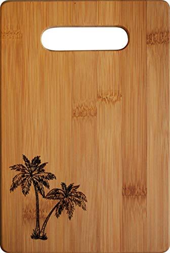 (Doodle Gifts Single Tone Bamboo Bar Cutting Board w/handle, Palm Tree, 6 x 9 (Small))