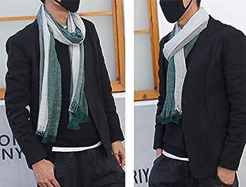 Fansi 1 Men s Business Glamour Student Pareja Long c/álido Punto Grueso algod/ón Flecos Bufanda 80cm Azul 180
