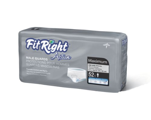 DSS FitRight Active Male Guards (6X11 208 Per Cace)