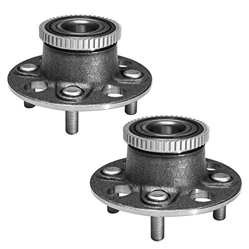 TUCAREST 512175 x2 (Pair) Rear Wheel Bearing and Hub Assembly Compatible With 2001 2002 2003 2004 2005 Honda Civic (4-Wheel ABS;EX Models Only) 01-05 Acura EL [4 Lug W/ABS]