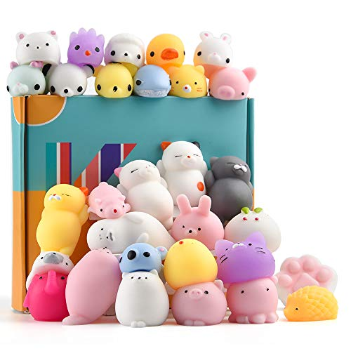 KUUQA 30Pcs Animal Squishies Toys Easter Egg Fillers Kawaii