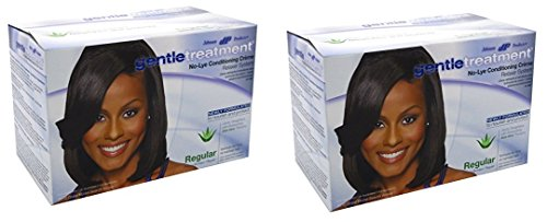 Gentle Treatment Hair Relaxer ([ PACK OF 2] Gentle Treatment No-Lye Conditioning Creme Relaxer System, Regular 1 ea)