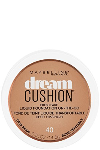 Maybelline New York Dream Cushion Fresh Face Liquid Foundation, True Beige, 0.51 oz. (Best Liquid Foundation Allure)