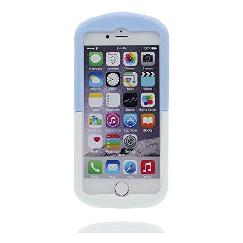 """Coque iPhone 6 Plus, [ TPU souple ] Cover iPhone 6s Plus étui (5.5 pouces), iPhone 6 Plus Case (5.5"""") 3D Cartoon Shell poussière glissement résistant aux rayures- Pill et Bouchon anti-poussière"""