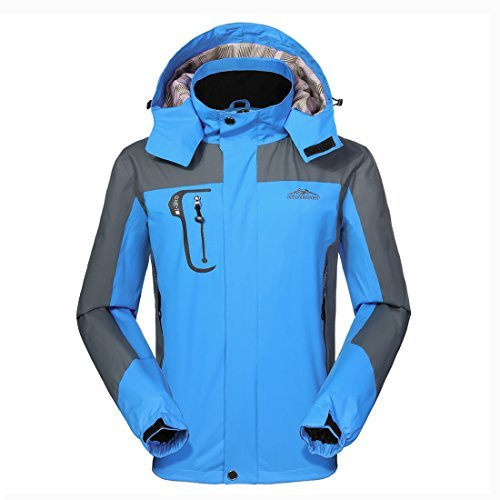 GIVBRO Waterproof Jacket Mens Raincoats New Design Outdoor Hooded Lightweight Softshell Hiking Windproof Rain Jackets by GIVBRO