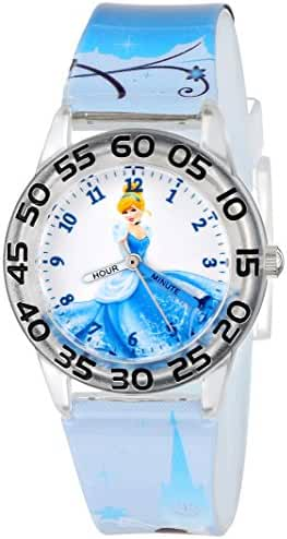 Disney Kids' W001194 Cinderella Plastic Watch with Printed Strap