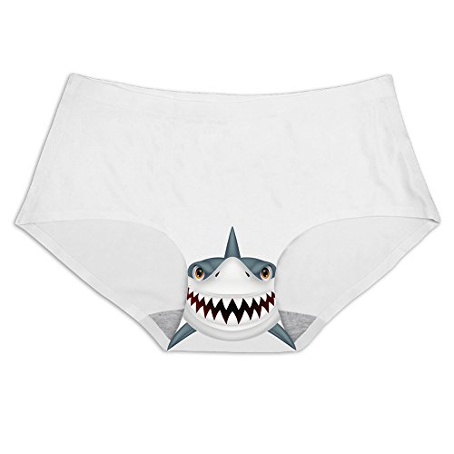 Slim Panties Claws Shark Printing Ice Silk Briefs Underwear
