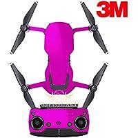 SopiGuard 3M Gloss Fuchsia Purple Precision Edge-to-Edge Coverage Vinyl Sticker Skin Controller 3 x Battery Wraps for DJI Mavic Air