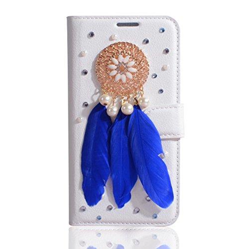 DOOGEE X20 Hülle, DOOGEE X20L Hülle, Gift_Source [ Mond ] Handy Schutzhülle Ultra Schlanke Bling Glitzer Crystal Diamant PU Leder Brieftasche Hülle Ledertasche Lederhülle Flip Etui Schutzhülle Tasche  E1-Traumfänger