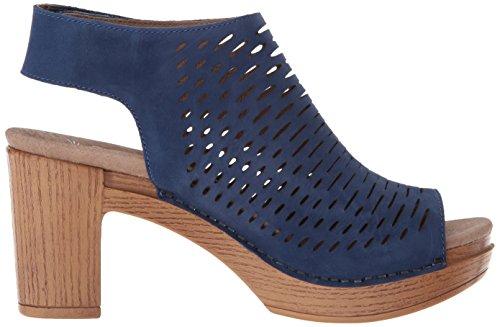 Dansko Nubuck Blue Milled Heeled Women's Sandal Danae S0cwq0BH4