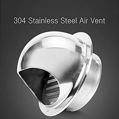 1pc Stainless steel Circle Air Vent Grille Ducting Ventilation Cover 100mm//150mm