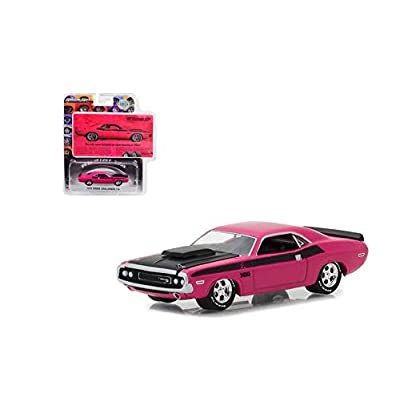 NEW DIECAST TOYS CAR Greenlight 1:64 Hobby Exclusive - BFGoodrich Vintage Ad Cars - 1970 Dodge Challenger T/A Pink 29943: Toys & Games