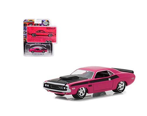 NEW DIECAST TOYS CAR Greenlight 1:64 Hobby Exclusive - BFGoodrich Vintage Ad Cars - 1970 Dodge Challenger T/A Pink 29943