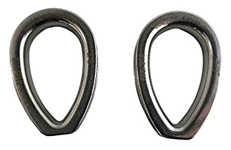 """5 pieces Stainless Steel 316 Rope Thimble 12mm for rope size 1//2/"""" Marine Grade"""