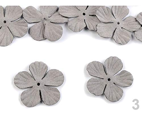 10pc 3 Pearl Grey Artificial Flower Petals DIY Ø40mm, and Bloom Production, Clothing, Footwear Decor Accessories, Haberdashery