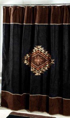 Avanti Linens Mojave Shower Curtain, Black