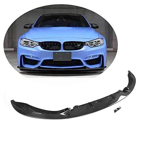 MCARCAR KIT Fits BMW F80 M3 Sedan F82 F83 M4 Coupe Convertible 2014 2015 2016 2017 2018 Carbon Fiber Front Chin Spoiler Bumper Lip (3D Look Chin Spoiler)