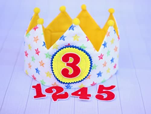 Corona bebé de tela para cumpleaños infantil con dibujos de ...