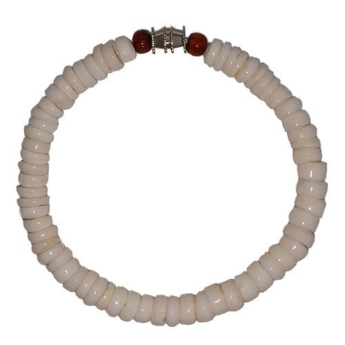 Hawaiian Puka Shell Bracelet with Koa Wood Bead (Puka Shell Bracelet)