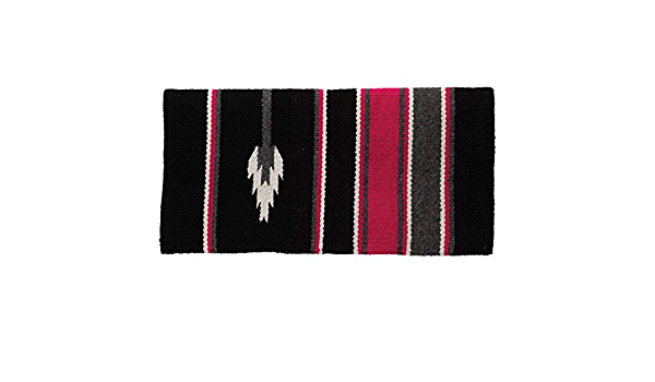 Pink//Charcoal//Black Arrow Weaver Leather 35-1465-A4 Double Weave Grade A Acrylic Blanket