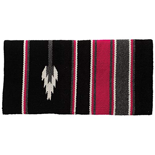 - Weaver Leather 35-1465-A4 Double Weave Grade A Acrylic Blanket, Arrow - Pink/Charcoal/Black
