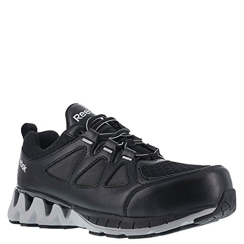 (Reebok Men's Leather and Mesh Athletic Oxfords Composite Toe Black 8 EE)
