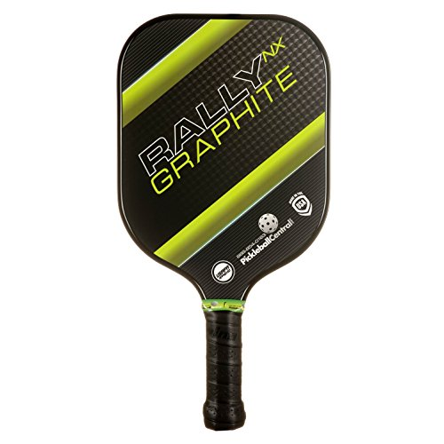 Rally NX Graphite Pickleball Paddle (Green) - Nomex Honeycomb Core & Graphite Face - Lightweight 7.3 - 7.7 oz. - Meets USAPA - Specs Face Long For