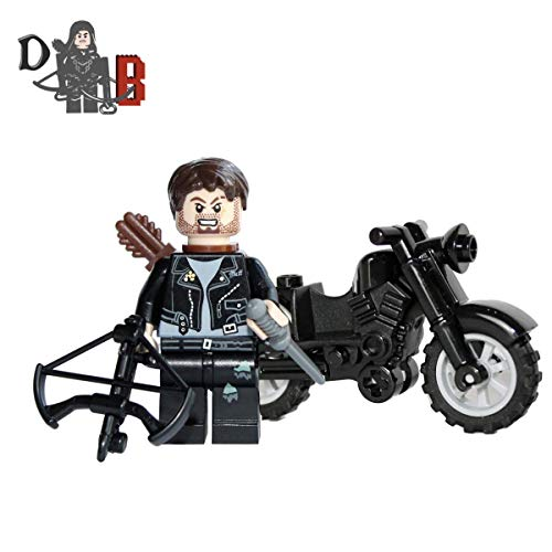 (Custom The Walking Dead Daryl Dixon with Motorbike and Custom Made)