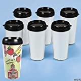 Fun Express Design Your Own Travel Mug 6 Pack 16 oz.