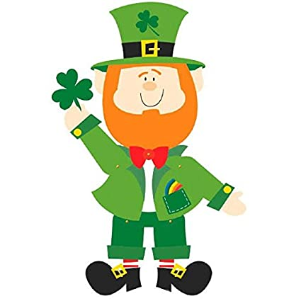 Amazon amscan lucky irish green st patricks day jointed amscan lucky irish green st patricks day jointed leprechaun paper cutout party decoration pack altavistaventures Images