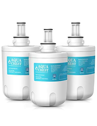 AQUACREST DA29-00003G Replacement for Samsung DA29-00003G, DA29-00003B, DA29-00003A, HAFCU1, Aqua-Sheer Plus Refrigerator Water Filter (3 Pack)