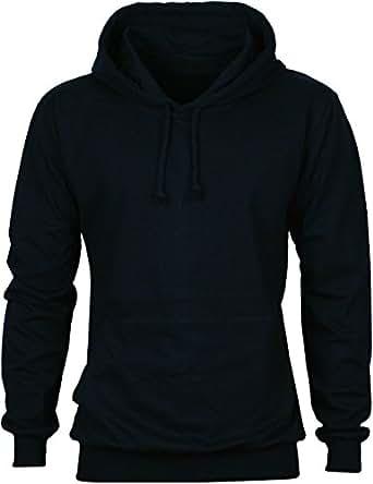 23dbcd120d76 Angel Cola Men s Long Sleeve Plain Cotton Lightweight Hoodie Shirts Dark  Blue S