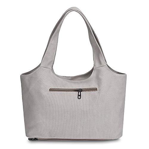 Loisirs Femme À Quotidiens En Épaule Gris Clair Pour Toile D'une Les Shopping Zhanghongj sacs Main 8q7HwgH