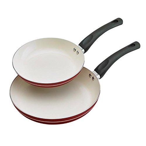 Phillippe Richard TTU-U0379 Cookware Fry Pan Set, Medium, Red