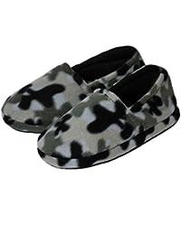 Boys Camouflage Fleece Indoor Slippers