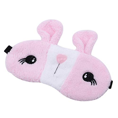 LZIYAN Sleep Eye Mask Lovely Cartoon Rabbit Eye Mask Portable Eyepatch Cute Blocks Out Light Blindfold For Home Travel,Pink by LZIYAN (Image #3)